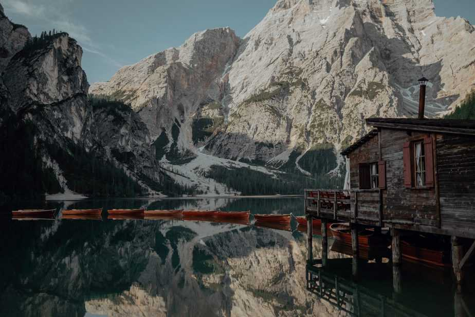 A still lake. Lake Braies Wedding Photographer, Belle Art Photography.