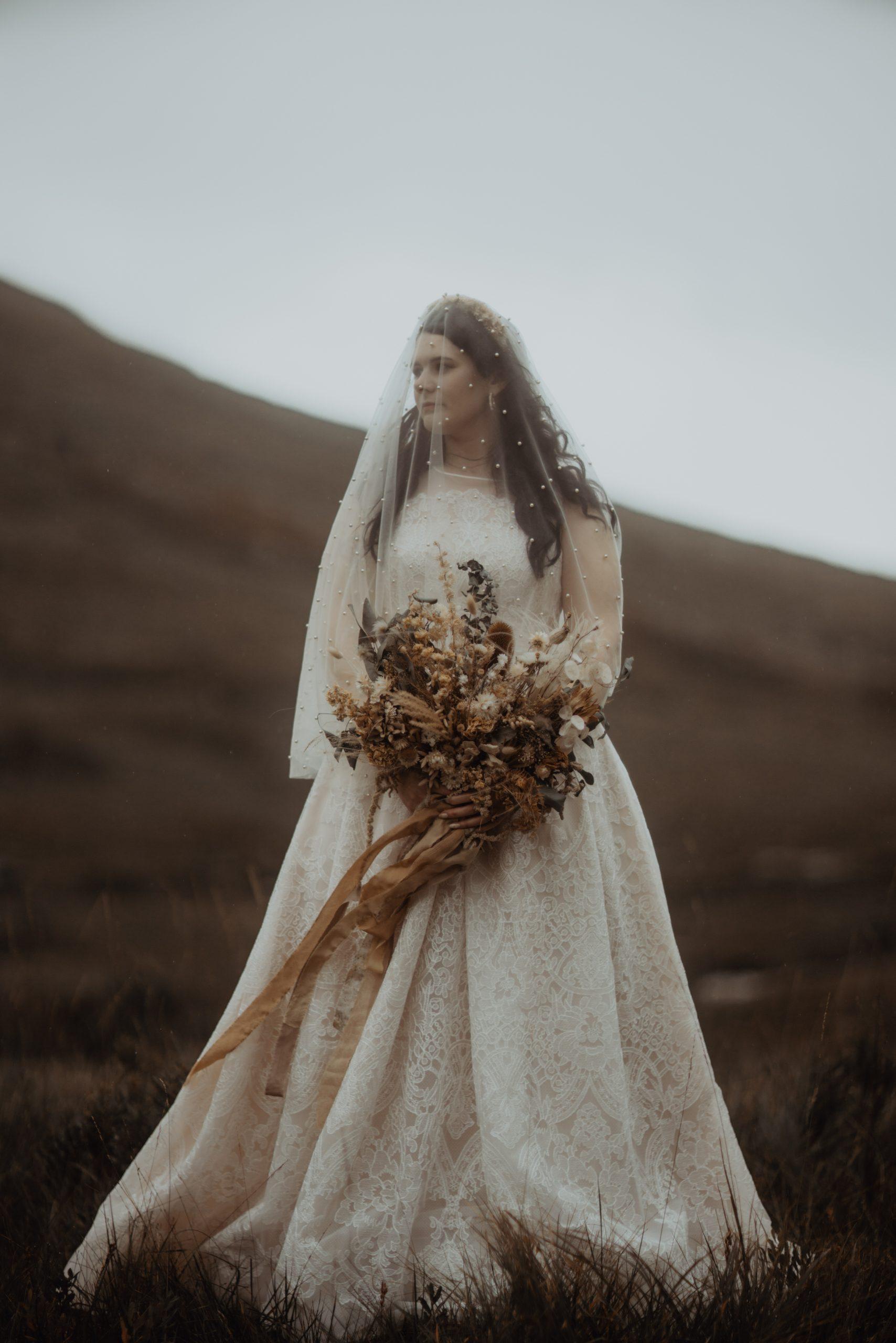 bridal portrait of Glen Etive Elopement.