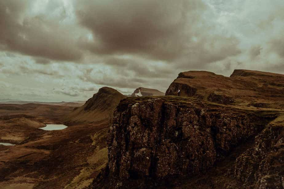 Couple Dancing on The Quiraing by Isle of Skye Elopement Photographer