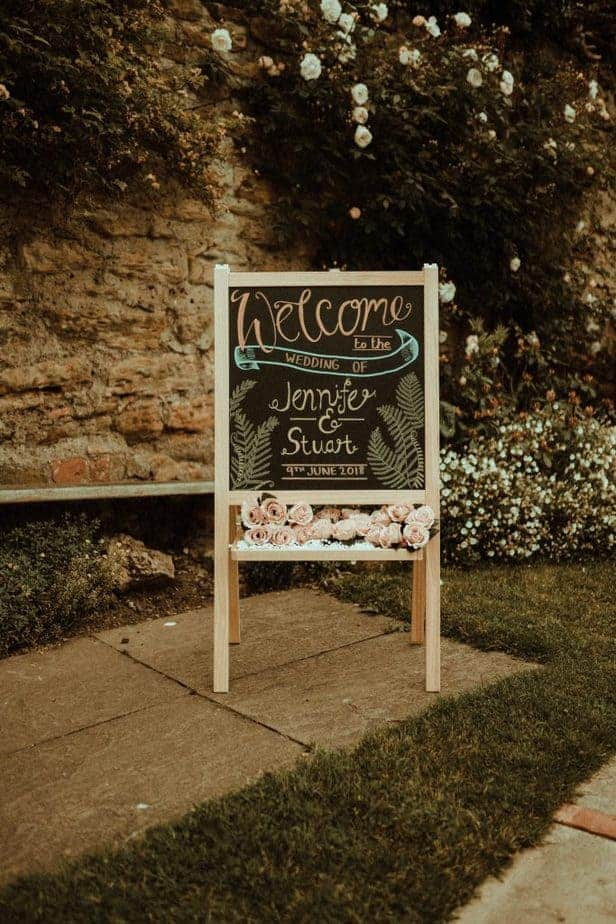 An image of the welcome sign at Crook Hall by Belle Art Photography