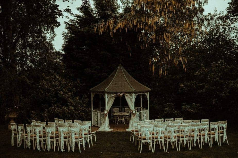 An Image of the alter and chairs at Crook Hall by Belle Art Photography