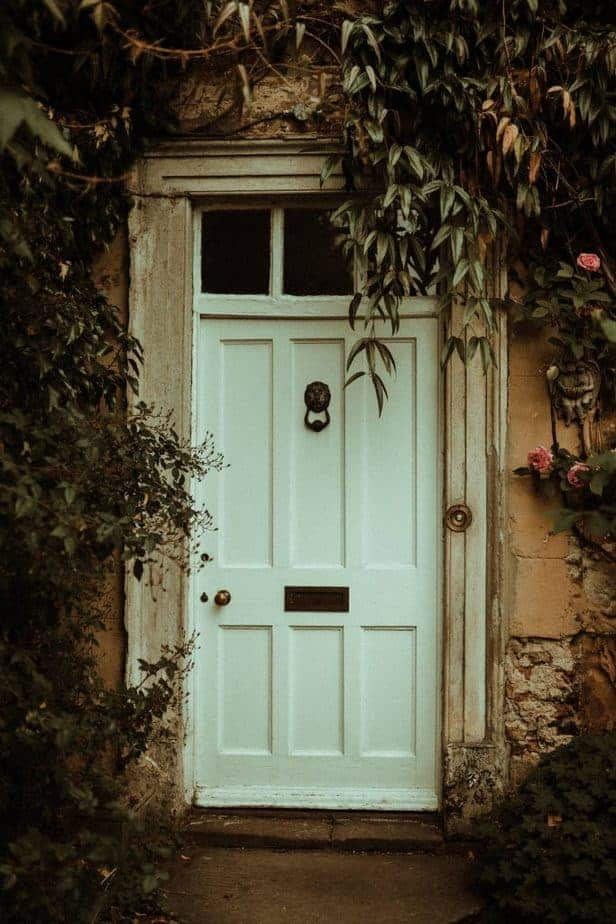 And image of the door at Crook Hall by Belle Art Photography