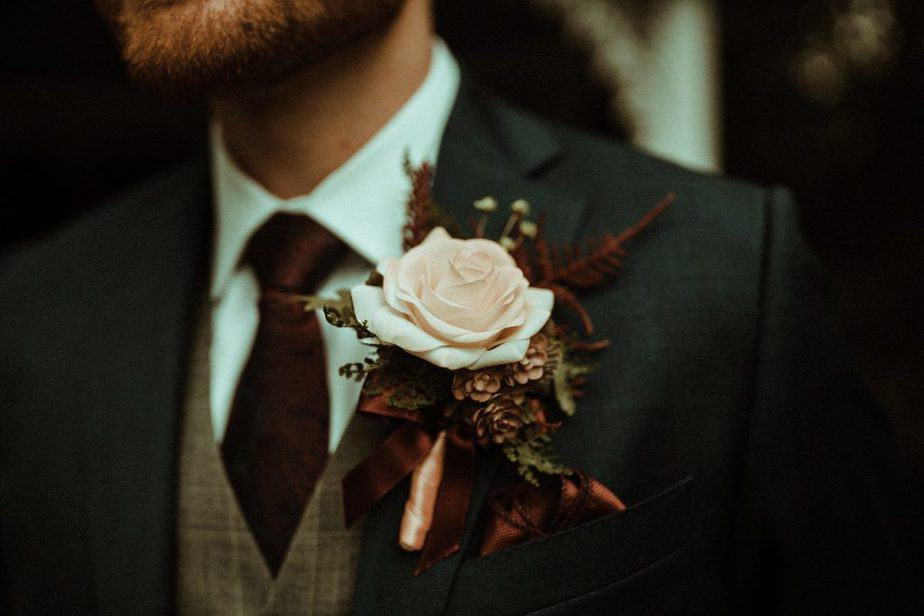 An Image of the buttonhole at Crook Hall by Belle Art Photography