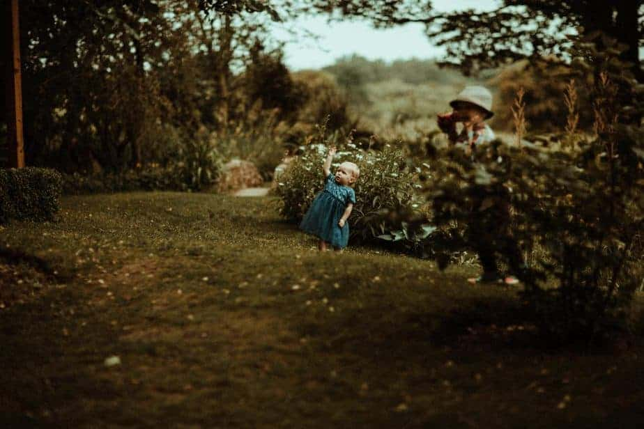 An image of a little girl pointing at the sky at Crook Hall by Belle Art Photography