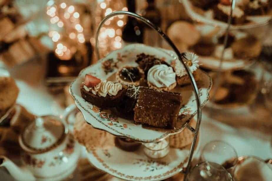 An image of afternoon tea at Crook Hall and Gardens