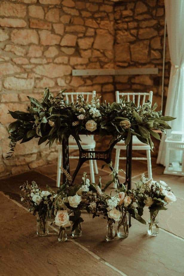 An image of flowers at venue an intimate wedding at Northside Farm by Belle Art Photography