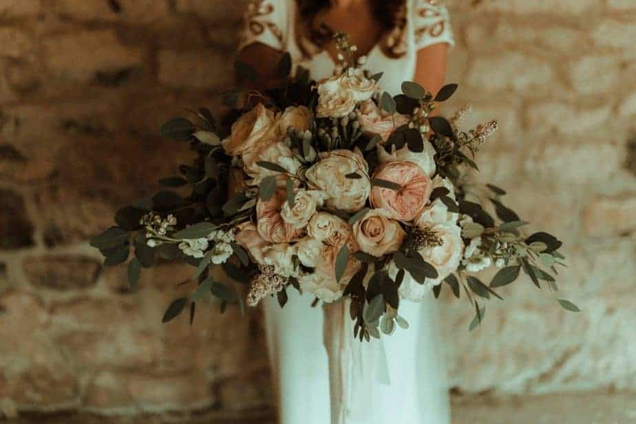 An image of brides bouquet an intimate wedding at Northside Farm by Belle Art Photography