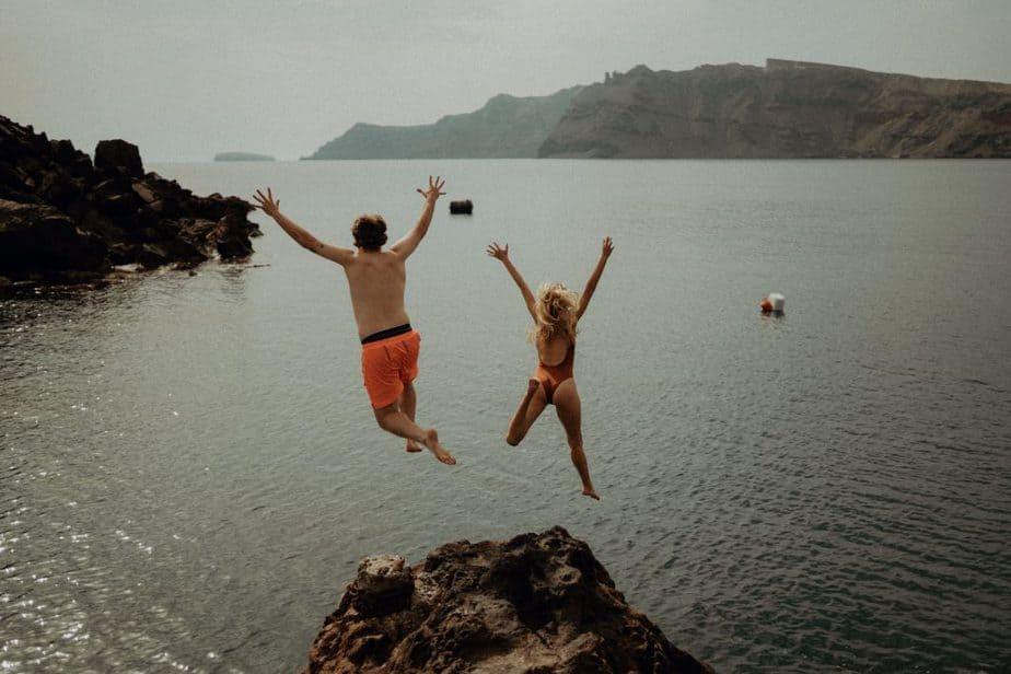 Destination Adventure Sessions - Engagement photos in Santorini