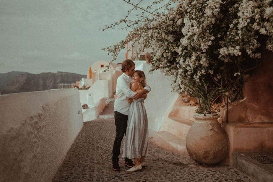 Engagement Couple Photos in Santorini