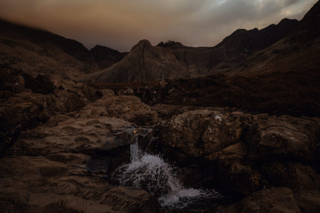 Fairy Pools at Sunset