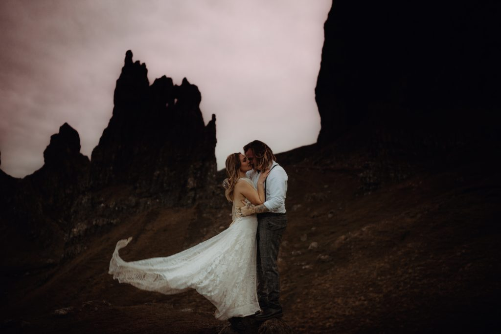 Sunset Elopement at The Old Man of Storr