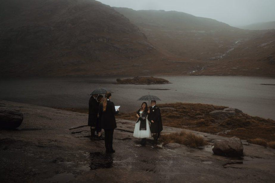 Francesca, Isle of Skye Humanist celebrant during elopement ceremony at Loch Coruisk