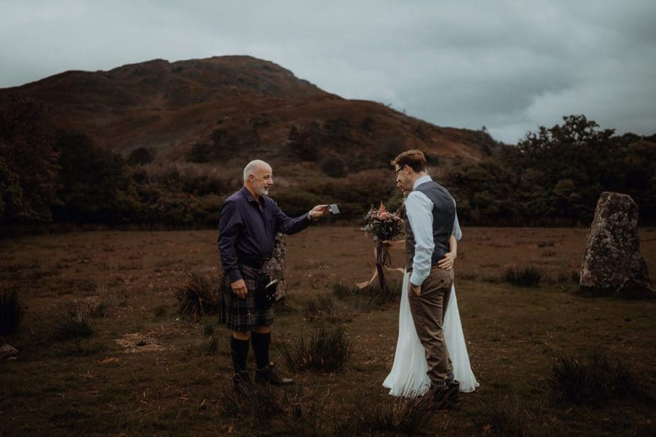 Gary smith Isle of Skye Humanist Celebrant during elopement ceremony