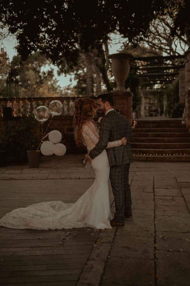 First dance at Villa Bologna by Malta Wedding Photographer, Belle Art photography