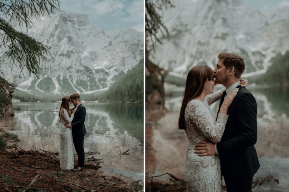 Couple Session in Lake Braies, Italy by Belle Art Photography