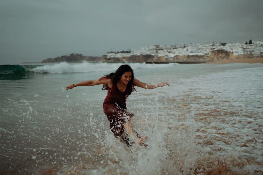 Fun Beach Elopement Session in the Algarve, Portugal