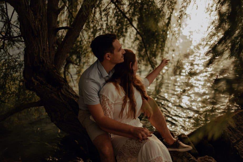 Couple photos at Lake Garda