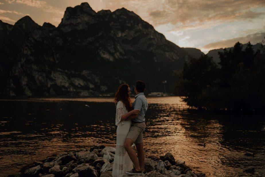 Sunset Couple Session at Lake Garda
