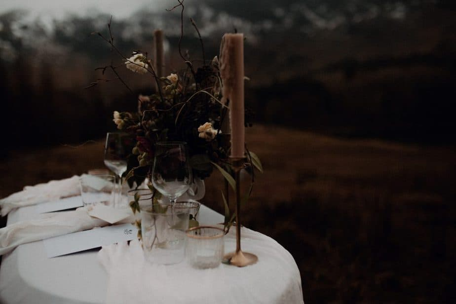 Wedding Table for Isle of Skye Elopement