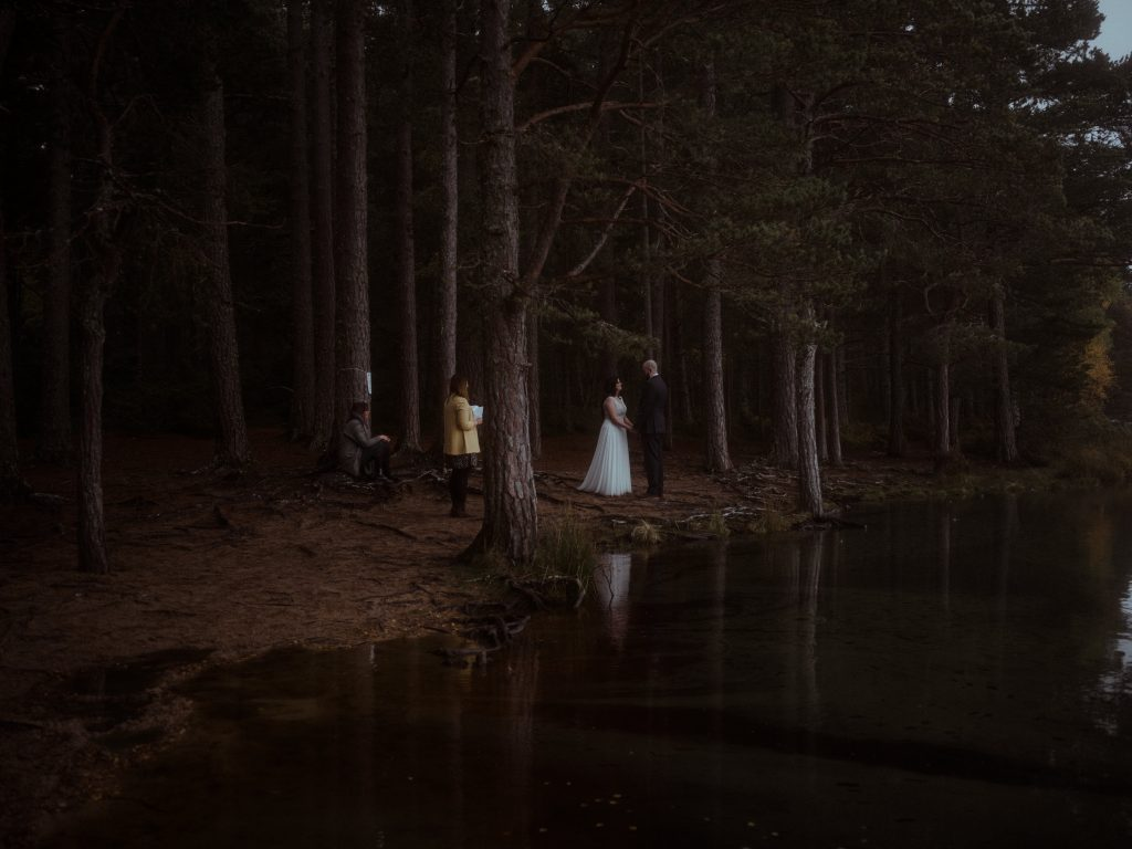 Loch Garten Elopement at the Cairngorms National Park.