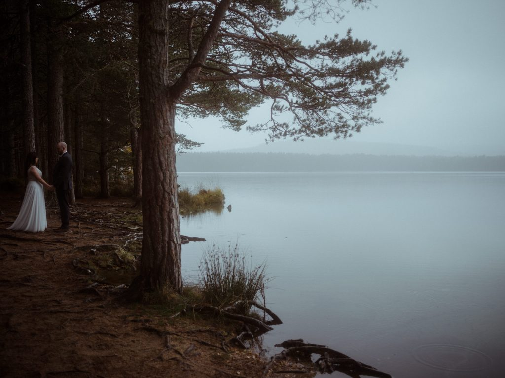 Elopement Ceremony at Loch Garten, Cairngorms National Park,