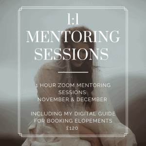 Elopement Photography Mentoring Sessions Isle of Skye